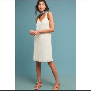 Cream Anthropologie Dress